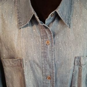 CJ Banks NWT 3x Button Up Top
